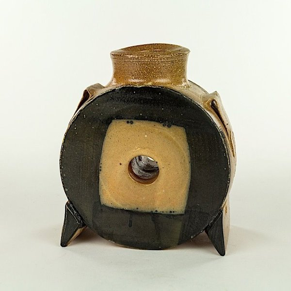 "Michael Simon, Vase with Hole, earthenware, 7 X 6 x 3.25"""