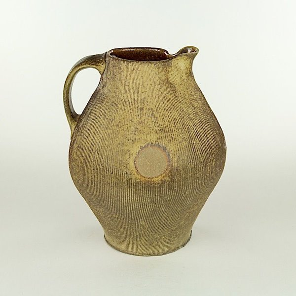 Simon Levin, Pitcher, earthenware, 11 X 8.5 x 8""