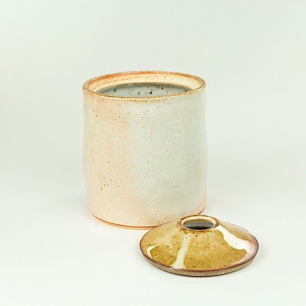 "Nancy Green Nancy Green, Tall Storage Jar , 5.5 x 4.75"" dia"