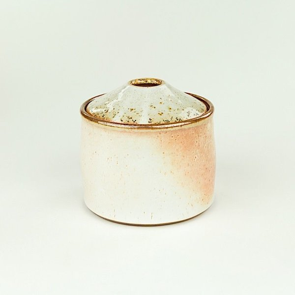 "Nancy Green Nancy Green, Short Storage Jar , 5.5 x 4.75"" dia"
