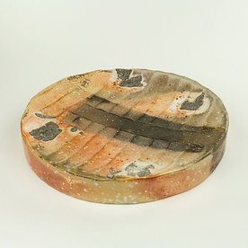The Platter Nancy Green, Round Hollow Platter, soda-fired, 1.75 x 12""