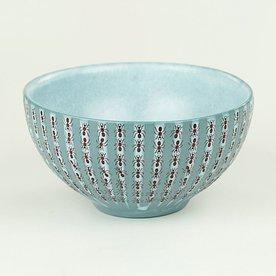 "Andrew Gilliatt Andrew Gilliatt, Picnic Ant Bowl porcelain, glaze, laser transfers, 3 x 5.75"" dia"
