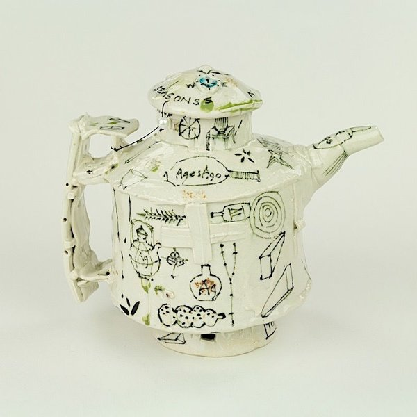 """Ted Saupe Ted Saupe,  Teapot, porcelain, 3.75 x 4.75 x 3.75"""""""