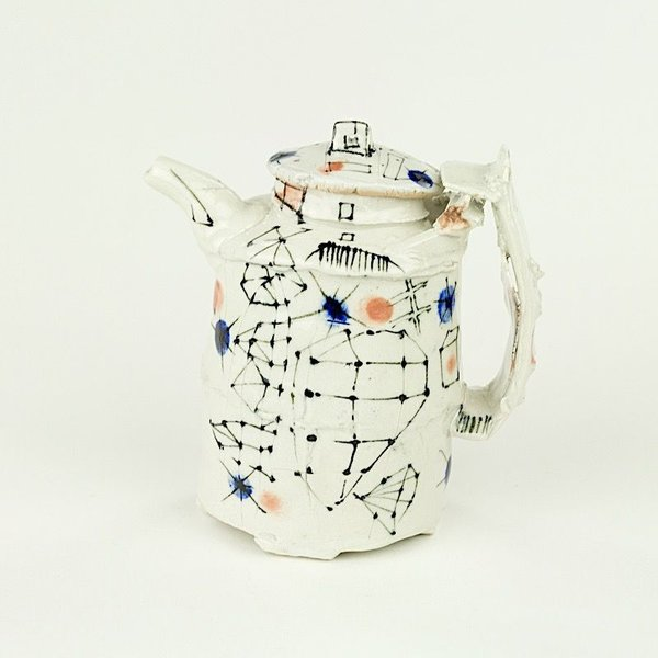 Ted Saupe Ted Saupe,  Sauce Pot, porcelain, 5 x 4.25 x 2.5""