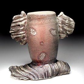 "Andy Nasisse Andy Nasisse, Little Ghost Vase,  7.25 x 8 x 5"""