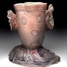 "Andy Nasisse Andy Nasisse, Little Ghost Vase, 8 x 8 x 5.5 """