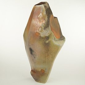 Josh Copus Josh Copus, Large Stone Vessel, wood-fired wild harvested clay, 27 x 10.5 x 8.5""