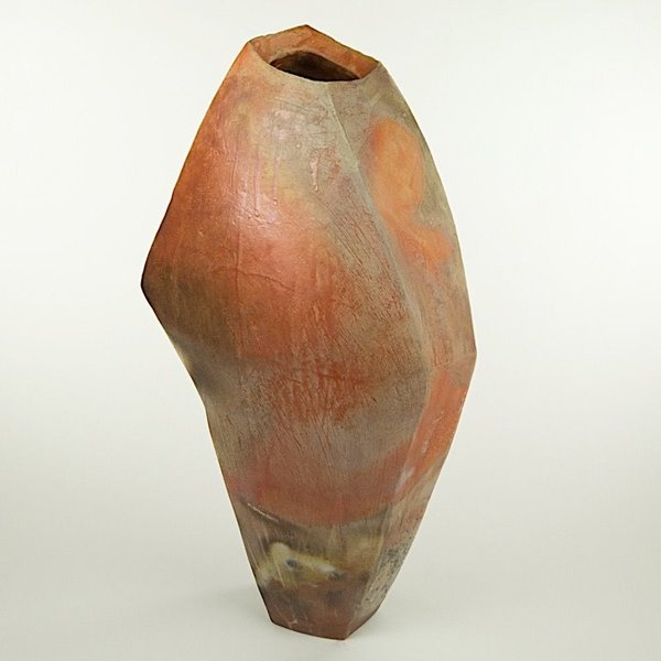 "Josh Copus Josh Copus, Large Stone Vessel, wood-fired wild harvested clay, 25.5 x 10.5 x 7"""
