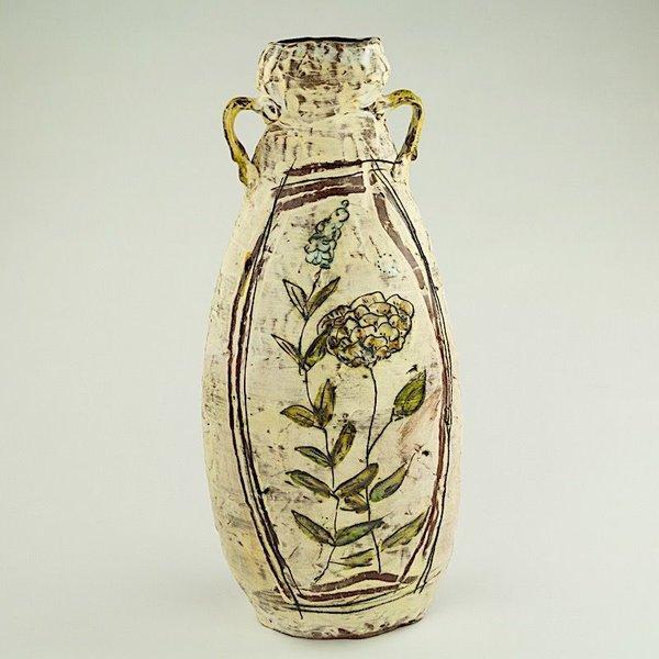 "Maria Dondero Maria Dondero, Medium Oval Jar, 17 x 13.5"" dia"