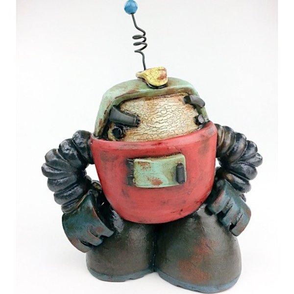 "Michael Klapthor Michael Klapthor, NJ-3, ceramic, glaze, 8 x 6 x 5.5"""