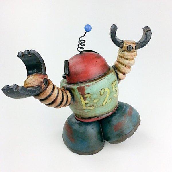 """Michael Klapthor Michael Klapthor, E-25, ceramic, glaze, 8 x 6 x 5.5"""""""