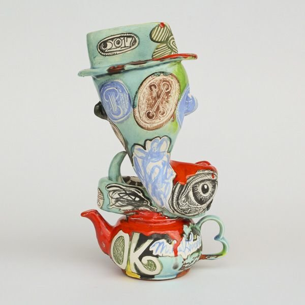 """In-Cahoots Michael Lucero, Charmer (Post Columbus Series), 13 x 7.5"""""""