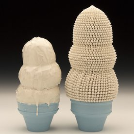 "In-Cahoots Ron Geibel, Experimenting with Couples, porcelain, 5"" tallest"