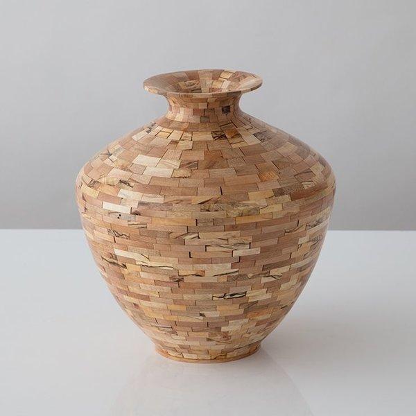 """Richard Haining Richard Haining, Stacked Urn, reclaimed maple, hand shaped, 12 x 11"""""""