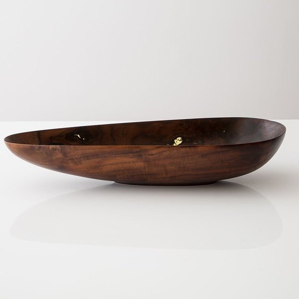Richard Haining Richard Haining, Carved Walnut Bowl, reclaimed wood, hand shaped, 4 x 22.25 x 9.25""