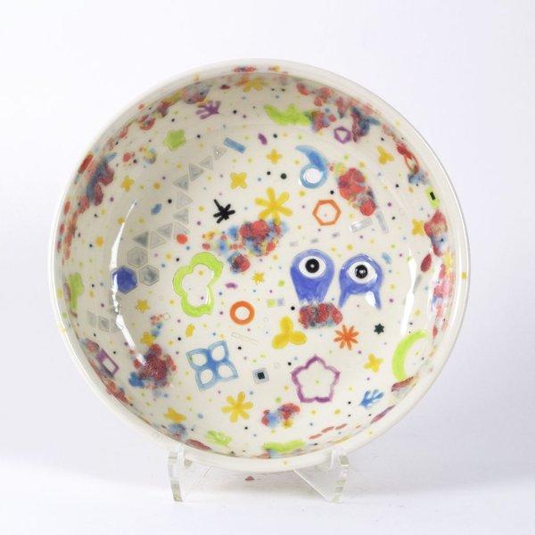 "Masa Sasaki Masa Sasaki, Large Princess Bowl, porcelain, glaze, 3 X 11"""