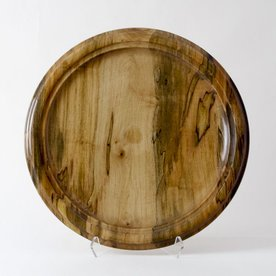 "Philip Moulthrop Philip Moulthrop, Spalted Red Maple Platter, 7 x 8.75"" diameter"