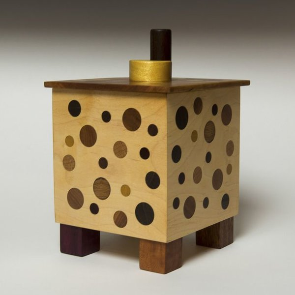 Doug Pisik Doug Pisik, Dot Box, various woods, 10.75 x 6.75 x 6.75
