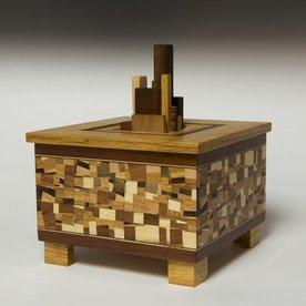 "Doug Pisik Doug Pisik, Random Box, various woods, 10 x 8.5 x 8.5"""