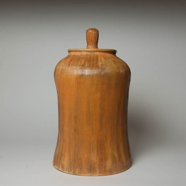 Matt Kelleher Matt Kelleher, Jar,  soda-fired earthenware, 18 x 10.5""