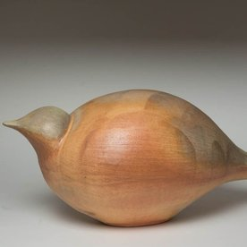 Matt Kelleher Matt Kelleher, Large Bird, slab built, soda-fired earthenware, 11 x 26.25 x 11""
