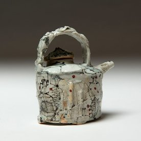 """Ted Saupe Ted Saupe, Teapot One, porcelain, 5.5 x 5 x 3.5"""""""