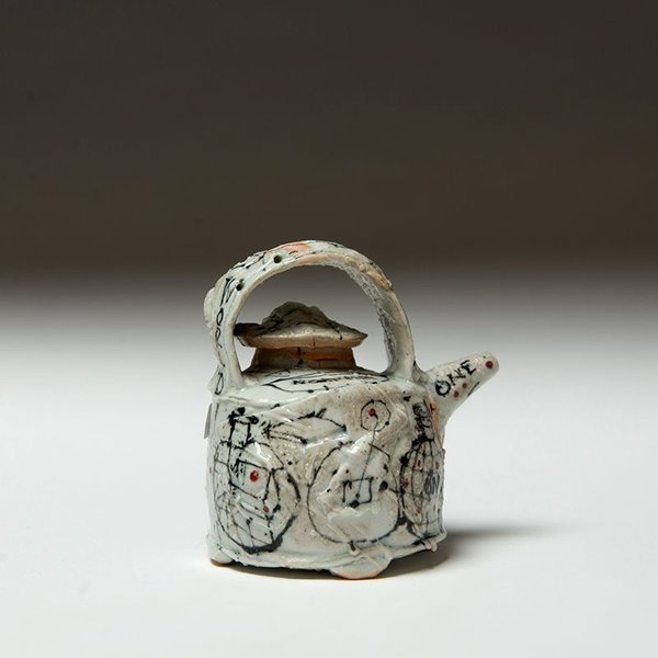 Ted Saupe Ted Saupe, Sauce Pot, porcelain, 2.75 x 8.75""