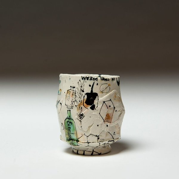 """Ted Saupe Ted Saupe, Yunomi, porcelain, 3.75 x 3"""""""