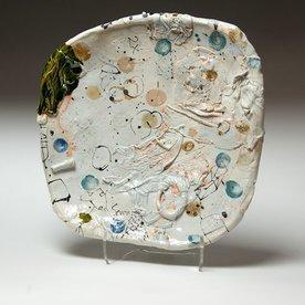"""Ted Saupe Ted Saupe, Handbuilt Platter, porcelain, 2.25 x 13 x 12.5"""""""
