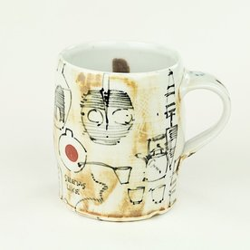 "Ted Saupe Ted Saupe,  Mug, porcelain, 3.75 x 4.5 x 3.5"""