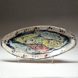 "Ron Meyers Ron Meyers, Fish Platter, 3.25 x 22 x 10"""