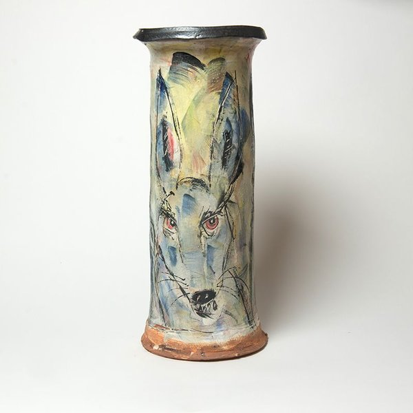 Ron Meyers Ron Meyers, Vase, 17.75 x 7.75""