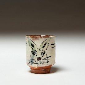 "Ron Meyers Ron Meyers, Rabbit Yunomi, 3.75 x 3"""