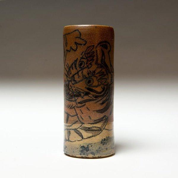 "Sunkoo Yuh Sunkoo Yuh, Cylinder w/Pencil Tiger, 7 x 2.75"""