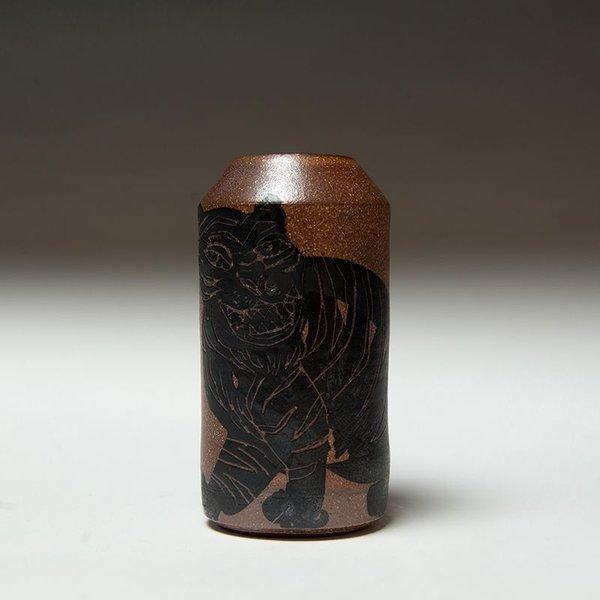 "Sunkoo Yuh Sunkoo Yuh, Cylinder w/Tiger, 5.75 x 2.75"""