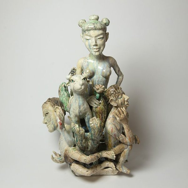 Sunkoo Yuh Sunkoo Yuh, Memory of Sheep, porcelain, 24.5 x 16 x 15""