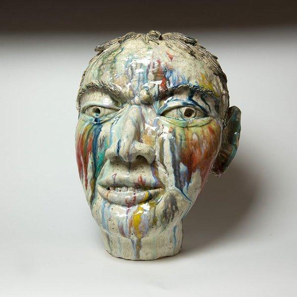 "Sunkoo Yuh Sunkoo Yuh, Head, porcelain, 17 x 14 x 11"""