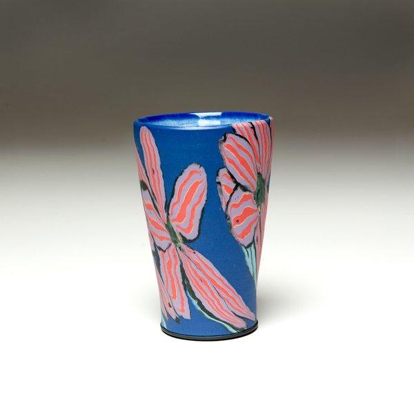 "Cory Brown Cory Brown, Cup, wheel-thrown inlayed porcelain, 5.5 x  3.5"" diameter"