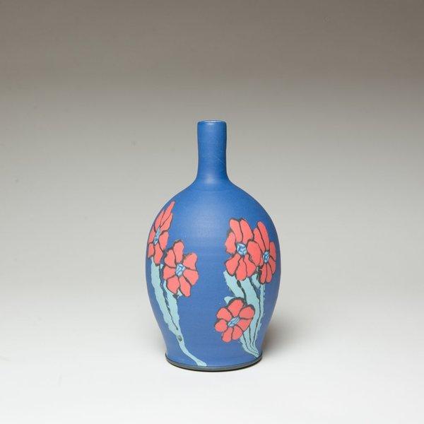 "Cory Brown Cory Brown, Bottle, wheel-thrown inlayed porcelain, 11.5 x 6.5"" diameter"