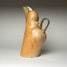 Matt Kelleher Matt Kelleher, Pitcher, slab built soda-fired earthenware, slip, 14.25 x 8.5 x 6""