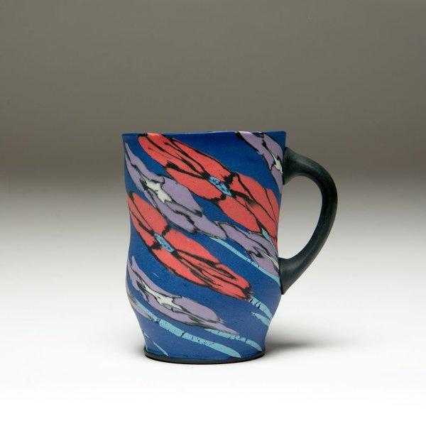 "Cory Brown Cory Brown, Mug, wheel-thrown inlayed porcelain, 4.75 x  4.75 x 3.5"""
