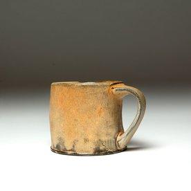 "Matt Kelleher Matt Kelleher, Mug, soda-fired earthenware, slip, 3.25 x 4.75 x 3.75"""
