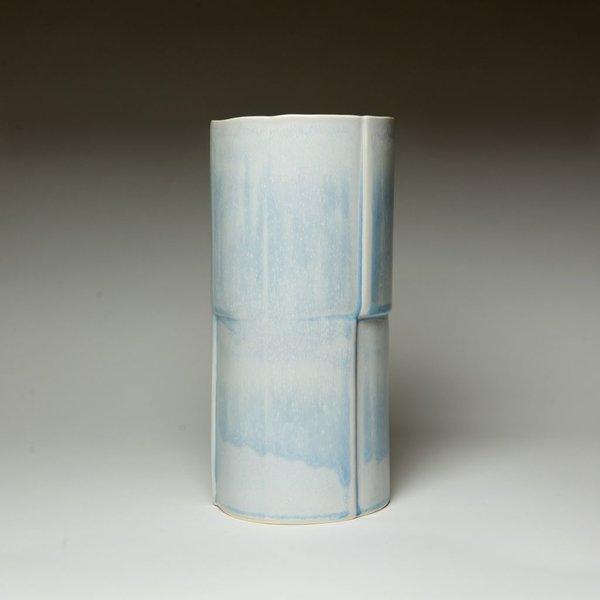 """Nick Moen Nick Moen, Double Stack Vase, porcelain, glaze, 10 x 4.75"""""""
