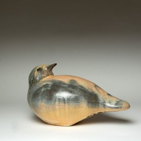 Matt Kelleher Matt Kelleher, Small Bird, slab built, wood fired stoneware, 7.25 x 13 x 7.25""