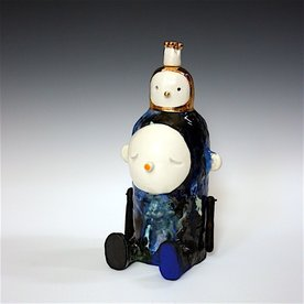 Taehoon Kim Taehoon Kim, Myself and Yours 1, clay, glaze, 9 x 5.5 x 4.5""