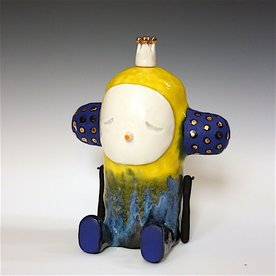 Taehoon Kim Taehoon Kim, Myself and Yours 3, clay, glaze, 9 x 7 x 5""
