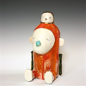 Taehoon Kim Taehoon Kim, Myself and Yours 5, clay, glaze, 9 x 5.5 x 5""
