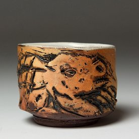 "Ron Meyers Ron Meyers, Teabowl/ Goat, earthenware, 3 1/2"" h x 4 1/2""w"