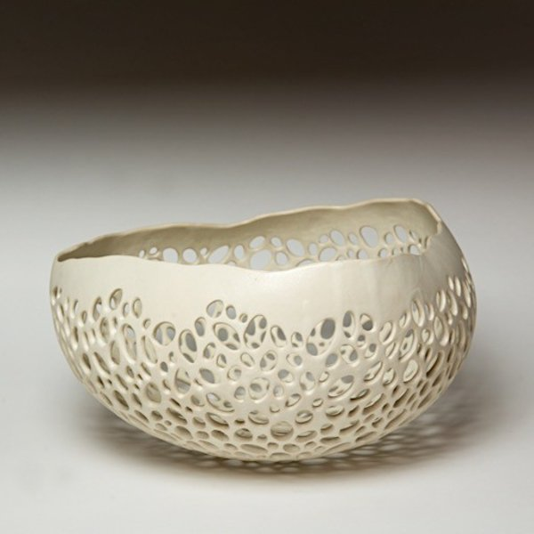 Kate Tremel Kate Tremel, Pierced Bowl, 6 x 11.5 x 11""