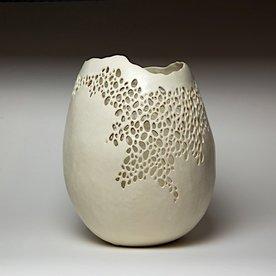 "Kate Tremel Kate Tremel, Pierced Vase, 12 x 9.5"""